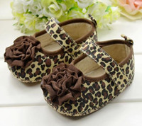 Wholesale 6pairs The M Baby Floral First Walker shoes Infant Soft sole Gold Toddlers Girls Leopard Shoes Free ship