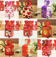 Wholesale more style wedding favor box gift paper boxes wedding favors boxes mix order