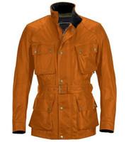 Precio de Chaquetas de los hombres de cera-Diseñador de la chaqueta de los hombres de cera de color amarillo dorado a prueba de agua caliente de la chaqueta 4 bolsillos cuadrados XS-XXXL envío libre