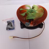 Wholesale 1 piece V hydraumatic bearing pin New Computer cpu cooler Intel LGA AMD CPU mm Cooling Cooler Fan Heatsink Set