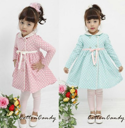 Wholesale 2012 new spring Korean version Girls bowknot long coat overcoat blue green SZ36