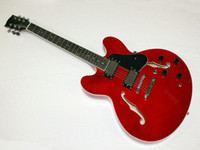 Wholesale NEW RED Hollow body JAZZ Electric Guitars OEM guitar guitars from china