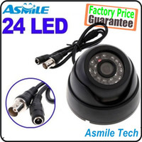 Wholesale 1 CCD TVL LED black dome camera Indoor IR Security Surveillance CCTV Camera PAL NTSC