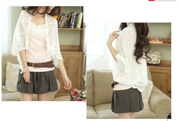 Wholesale 2013 New cotton female summer hollow bat sleeve cardigan shawl large size of the air conditioned shirt sun protection shirt