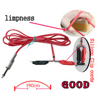 tattoo supplies - Red Silicone Tattoo Power Supply Clip Cord For Tattoo Needles