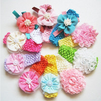 Wholesale children s of many kinds Chiffon flowers Hair band children headband hair access