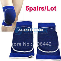 Wholesale 5pairs Sports Elastic Padded Sponge Knee Pad Support Brace Protector