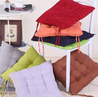 Wholesale suede dining chair cushion thicker office cushion tatami mat warm winter solid color cushi