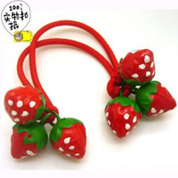 Wholesale child strawberry hair accessory headband hair rope hair jewelry