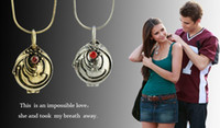Unisex american vampire - 20 Off Hot The Vampire Diaries Diary Lockets Necklaces Elena Nina Vervain Pendant With Crystal Women Jewelry DS2
