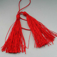 Wholesale DIY jewelry accessories Beads Tassel Charms Necklace Buddha Pendant red tassle fitting bookmarks charms jewelry BXT10002 cm cm