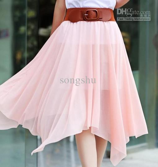 Latest Bohemia Spirit Chiffon Long Skirts With Belt Expansion ...