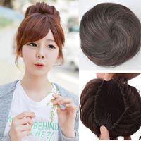 black alba hair - New Fashion Stylish Women s Girls Hair Magic Bun Clip in Hair Extensions Alba Taoist Headwear Access