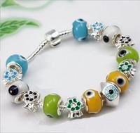 Alloy strands of glass beads - high grade pieces eye of wisdom glass bracelet Turkish glass eye bracelet fashion bracelet Fashion Design Lovely Beads Charm silver