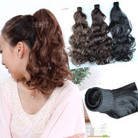 Wholesale NEW Women s Girls Synthetic Wavy Ponytail Horsetail Hairpiece Clip in Hair Extensions Headwear Acces