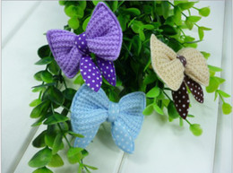 Wholesale Mix Colors pet hair clips Graceful dog hair bowknot pet grooming Pet Dog Ac