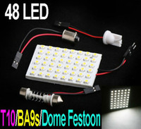 Wholesale 1210 SMD LED White light led car lamp DC V Car Interior Dome Light Bulb with Adapters
