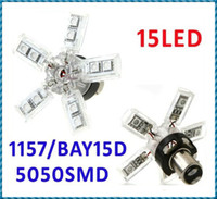 Wholesale Red BAY15D SMD LED Spider Claws Brake Stop Turn Tail Car Light Free Ship