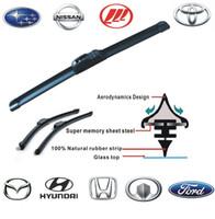Wholesale High quality universal U hook Car Wiper Blade Natural Rubber Car Wiper Car Accessory auto soft windshield wiper inch