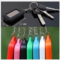 Wholesale Car Keychain LED Light MINI Solar Flashlight Solar lights LED lamp key chain ring