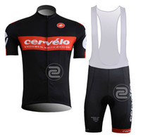 Wholesale 2013 Cervelo Jersey Bike Clothes with bib short S XL