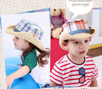 Wholesale 2013 new Children s BabyHigh quality children s hat straw hat visor natural beach cap