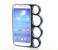 Wholesale Brass Knuckle Case Cover Hard Frame Electroplate Cover Case for Samsung S4 SIV I9500