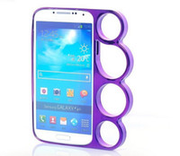 Wholesale Brass Rings Knuckles Bumper Case Cover Skin for SAMSUNG I9500 S4 S SIV mix colors
