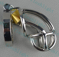 Male Chastity Cage  2013 Latest smaller stainless steel chastity cage chastity lock male sex toys