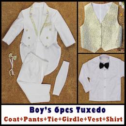 Wholesale Boys Formal Occasion Tuxedo Suits Coat Pants Tie Girdle Vest Shirt Y Children s Special Occasions Dresses Evening Dresses