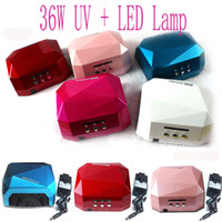UV+LED Lamp 36W US 6 Color 18W&36W UV+LED Gel Nail Lamp Gel Curing Tube Light Nail Art Polish Dryer Machine 110V 220V