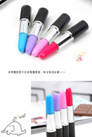 Wholesale 20 Promotion Novelty Pen Lipstick Style Ballpoint Pen Love