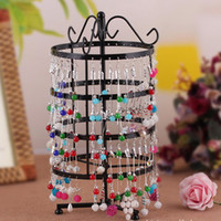 Wholesale Rotating Jewelry Display Stand Earring Holder Four Floor Round Display