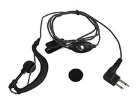 Wholesale 2 PIN PTT Earpiece With Microphone for Motorola Radio Nylon Braided Rope C017
