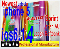 Wholesale 100 Genuine original iOS6 GPP Turbo iphone5 iPhone4S GS iphone AU Sprint amp Verizon