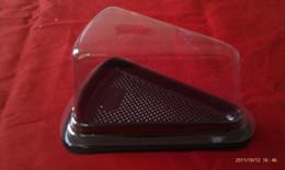 Wholesale Plastic Single Individual Cupcake Triangle cheese cake box