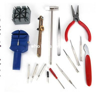 Wholesale 16Piece set Deluxe Watch band Repair Tool Kit for Watchband Link Pin Remover