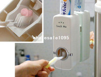 Powder Blush automatic toothpaste - White Household Automatic Auto Toothpaste Dispenser Free Brush Holder New drop shipping