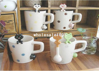 Wholesale cute catoon Ceramic coffee Hang spoon