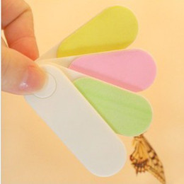 Wholesale Assorted color revolving women convenient Nail polished file Nail helper Powerful practicl nail file