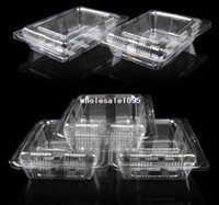 ECO Friendly individual cupcake boxes - Plastic Single Individual Cupcake lunch box Muffin Holders Cases Boxes Cups Pod