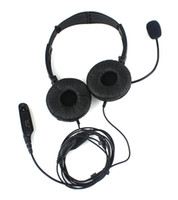Wholesale DHL Radio PIN Folding Headphone Headset Mic for Motorola Radio GP320 GP328 HT1250 PR860 Black C069
