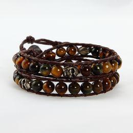 bracelets beaded beaded leather wrap bracelet leather men bracelet designer jewelry