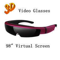 Wholesale 2013 New inch virtual screen d video glasses eyewear