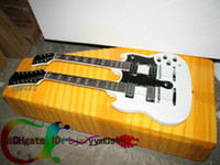 Solid Body 12 Strings Mahogany Custom Shop 1275 Double Neck Electric Guitar 6 12 strings Guitar white double neck guitars High Quality Free Shipping