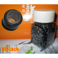 Wholesale 500pcs mm Black Micro Silicone Rings Links Beads For Hair Extensions Tool Kit Colors Optional