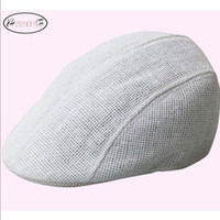 Wholesale Spring Summer Vintage Straw Hats Unisex Solid Color Beret Caps Junior s Checked Hat DT0502
