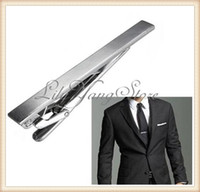 Wholesale Men Metal Silver Tone Simple Necktie Tie Bar Clasp Clip Practical Decor Men Necktie Tie Clip
