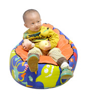Wholesale Baby Bean Bag Infant Cradle Children Sofa Chair Cover Double layers Harness Strap Lovely Colorful Dots Sea Animals Printed fabric Soft bed
