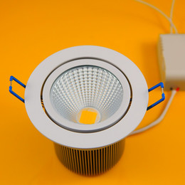 Wholesale - 8pcs 25W Dimmable 2250LM Warm White Cool White COB LED Ceiling Light Fixture Down light Recessed lamp AC85~265V